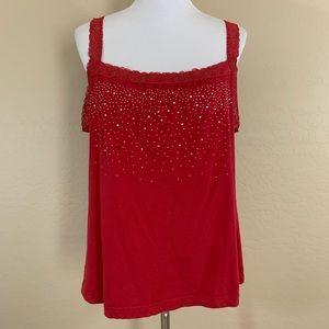 Lane Bryant Red Lace Tank Top